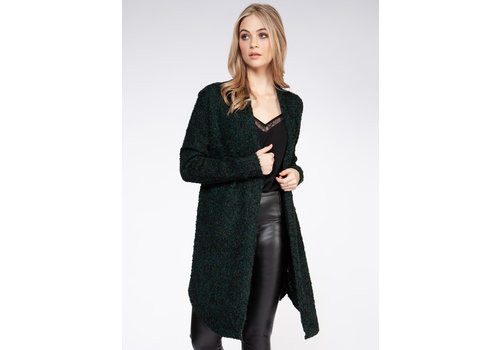 Dex Long Sleeve Boucle Cardigan