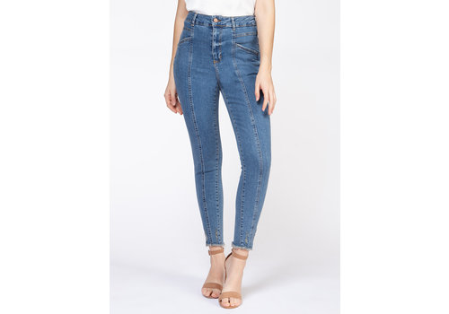 Dex High Rise Front Seam Denim