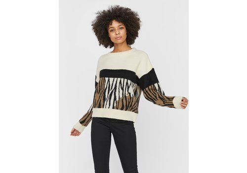 Vero Moda Leon Blocks Straight O-Neck Sweater