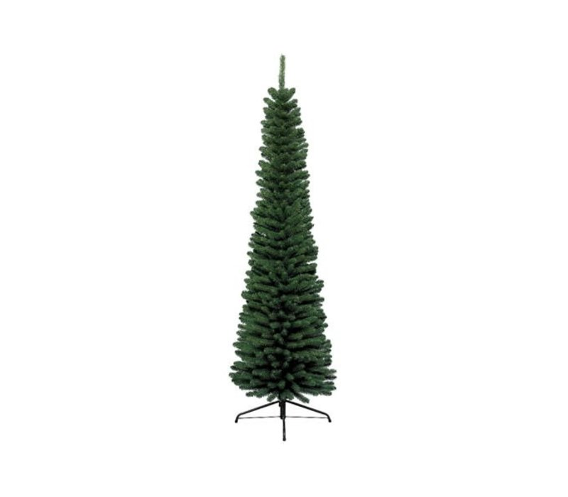 Pencil Pine With Metal Foot Green