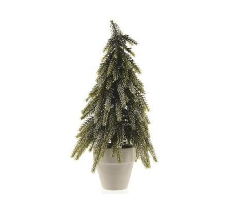 "Mini Tree in Paper Planter with Silver Glitter 6""x10"""