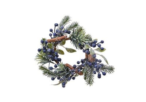 Kaemingk Candle Ring Blue Berries