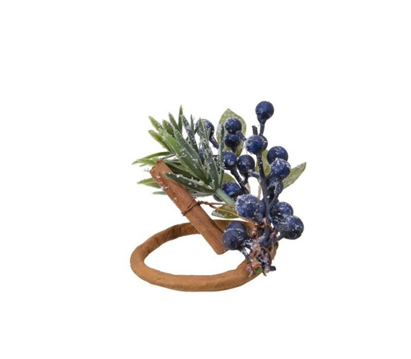 Napkin Ring Blue Berries