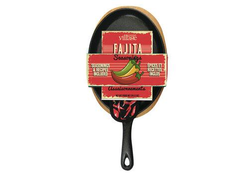 Gourmet Du Village Fajita Pan Cast Iron