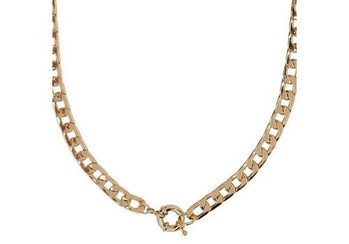 Club Manhattan Vintage Clasp Necklace Gold