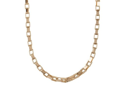 Club Manhattan Box Chain Choker Gold