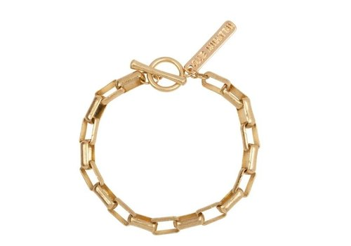 Club Manhattan Box Chain Bracelet Gold