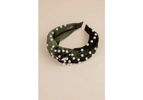 Philocaly Velvet Pearl Headband