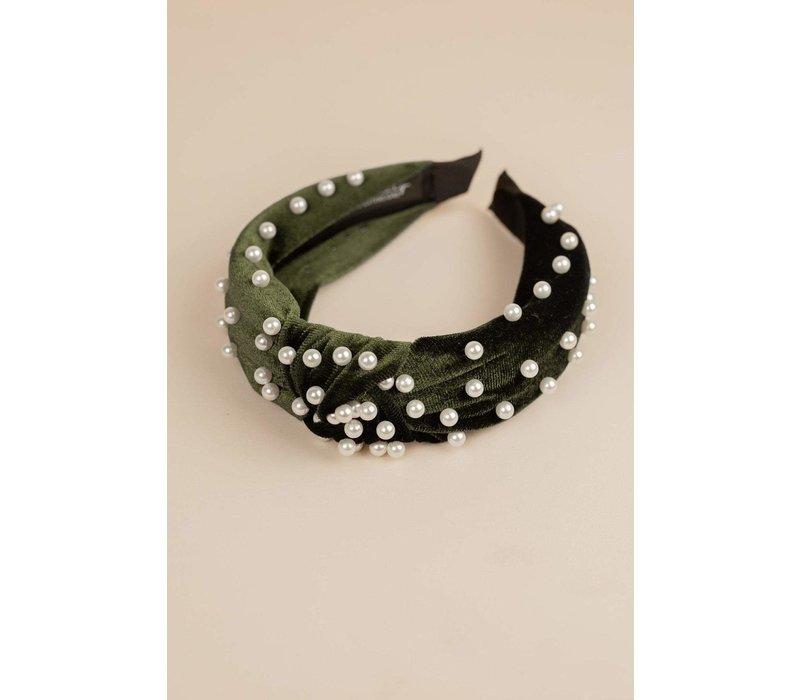 Velvet Pearl Headband