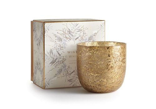 Illume Luxe Sanded Mercury Glass Candle Winter White