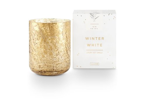 Illume Luxe Sanded Mercury Glass Candle Winter White Small