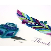 Quilling Art Card Thank You Quill and Ink