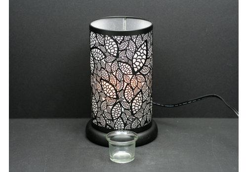 """Black Leaves Oil Holder Touch Sensor Lamp 6""""x9.5"""""""