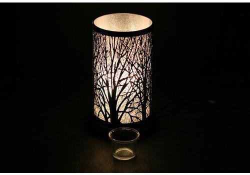 """Black Forest Oil Holder Touch Sensor Lamp 6""""x9.5"""""""