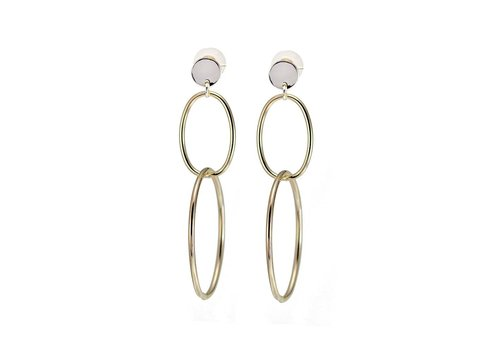 Merx Fashion Chain Earring Gold
