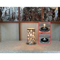 "Silver Daisy LED Touch Sensor Lamp 10""x16"""