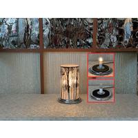 "Silver Tree LED Touch Sensor Lamp 10""x16"""