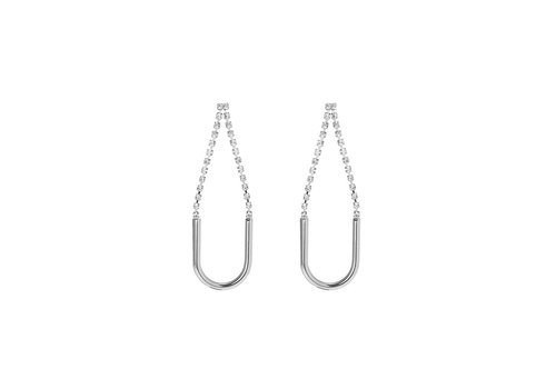 Merx Sofistica Earring Rhodium