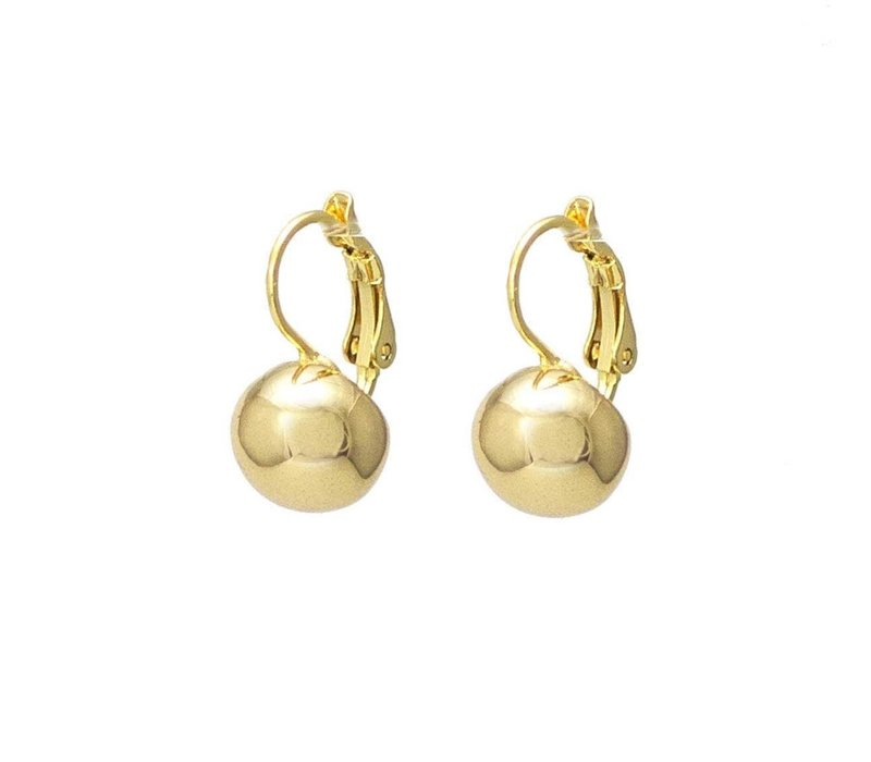 French Hook Ball Earring Gold