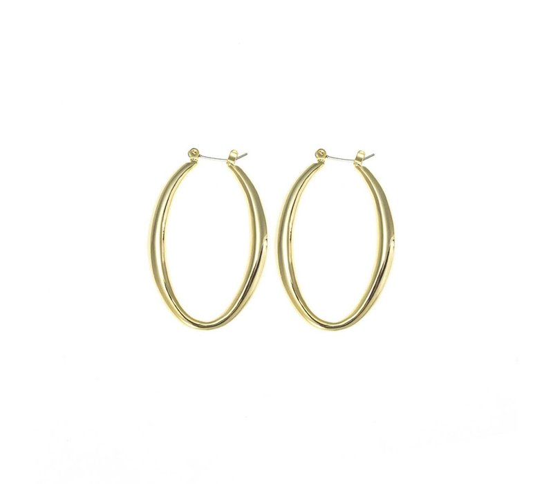 Gold Clip Post Earring