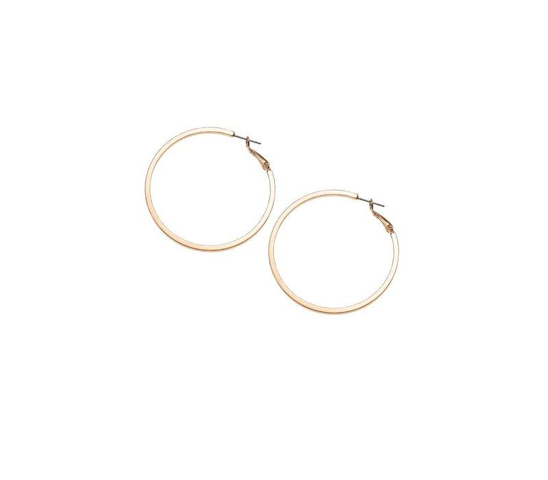 Rose Gold Hoop Earring 40mm