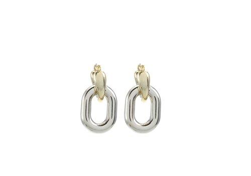 Merx Sofistica Earring Shiny Gold and Rhodium