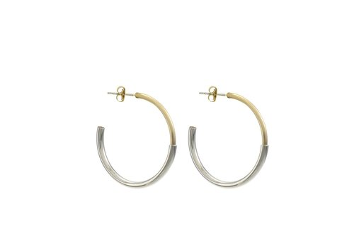 Merx Sofistica Earring Shiny Gold and Rhodium