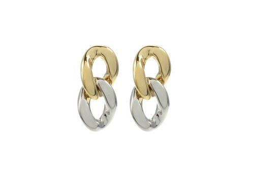 Merx Sofistica Earring Shiny Gold and Silver