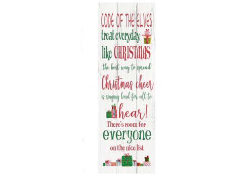 "Code of the Elves Hanging Plaque 12""x35"""