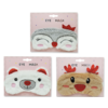 Santa's Secrets Plush Eye Mask With Glitter