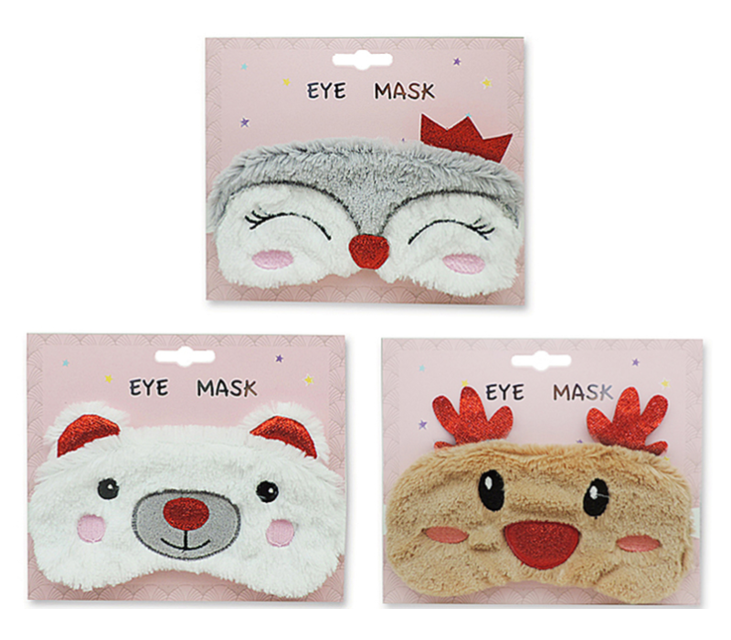 Plush Eye Mask With Glitter