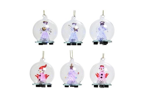 LED Glass Christmas Figure Warm White 2.5""