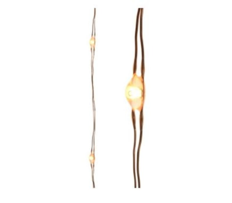 "Micro LED Copper String Warm White 116""-60L"