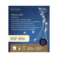 "Micro LED Bunch Silver Wire Warm White 43""-96L"