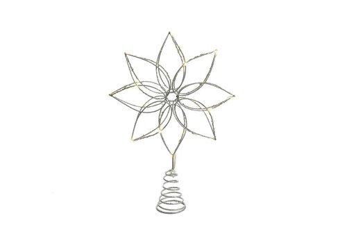 """Kaemingk Micro LED Tree Topper Warm White 8""""x10.5"""" 20L"""