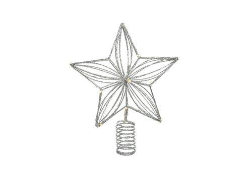 """Kaemingk Micro LED Tree Topper Warm White 8""""x10"""" 12L"""