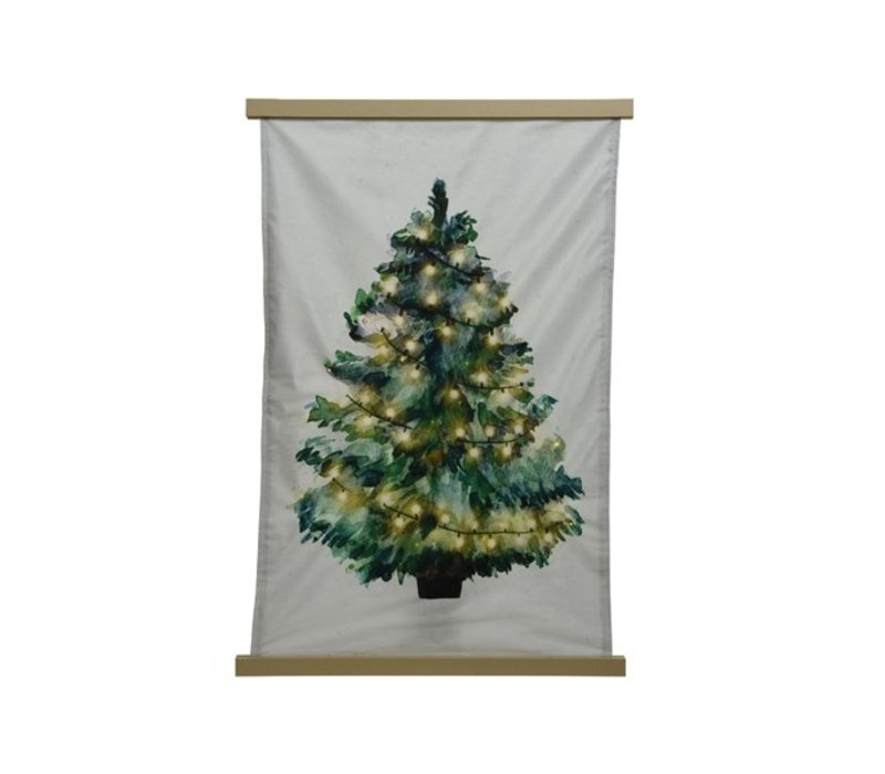 LED Tapestry Tree With Clips