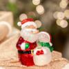Glenhaven Home & Holiday Santa With Snowman Night Light