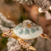 Glenhaven Home & Holiday Turtle Glass Ornament