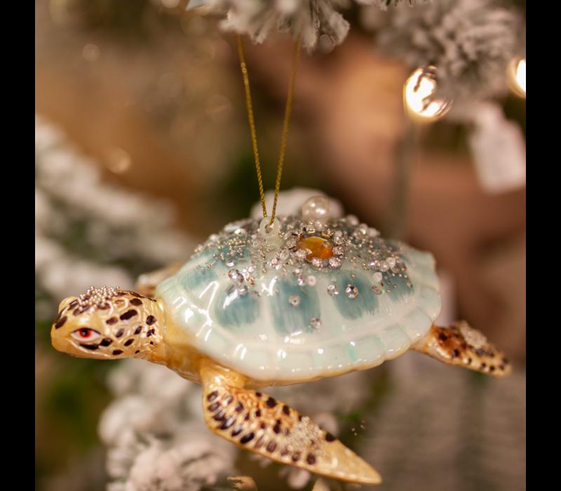 Turtle Glass Ornament