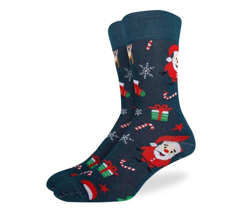 Men's Santa and Rudolph Socks