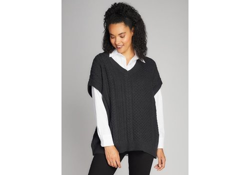 C'est Moi Knit Rib Vest Sweater