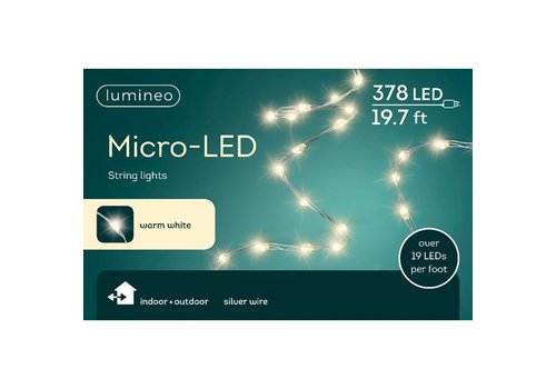 Micro LED String Light Extra Dense Warm White 19ft-378L