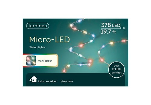 Micro LED String Light Extra Dense Multicolor 19ft-378L