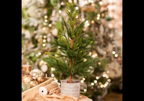 "Glenhaven Home & Holiday Nordmann Fir Ultra Tree In Galvanized Tin Mug 24"""