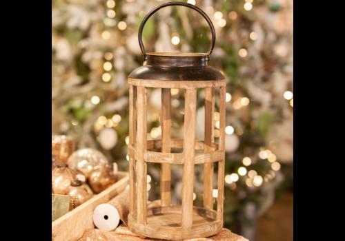 Glenhaven Home & Holiday Lantern Brown