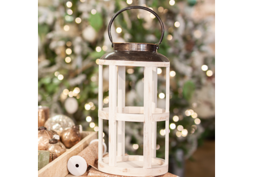 Glenhaven Home & Holiday Lantern White