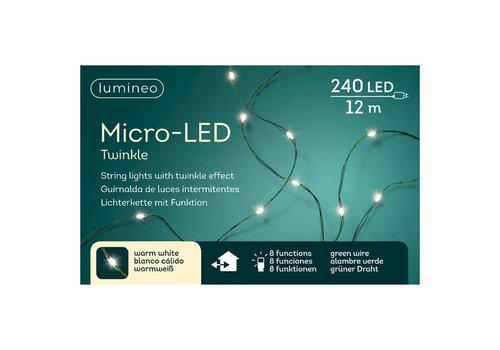 Micro LED String Twinkle Light Warm White 39ft-240L