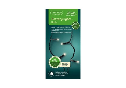 Kaemingk LED Durawise Basic Black String Light Warm White 170cm-24L