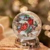 Glenhaven Home & Holiday Lighted Cardinal Shimmer Globe